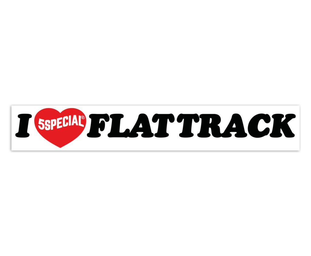 I LOVE FLAT TRACK PEGATINA
