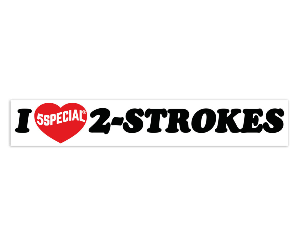 I LOVE 2-STROKES PEGATINA